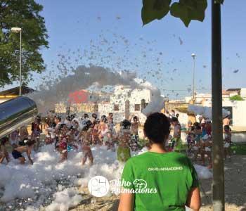 Animaciones con fiestas de espuma en Sevilla